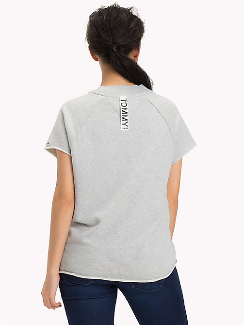 TOMMY JEANS Short Sleeved Raglan Sweatshirt - LIGHT GREY HTR - TOMMY JEANS TOMMY JEANS WOMEN - detail image 1