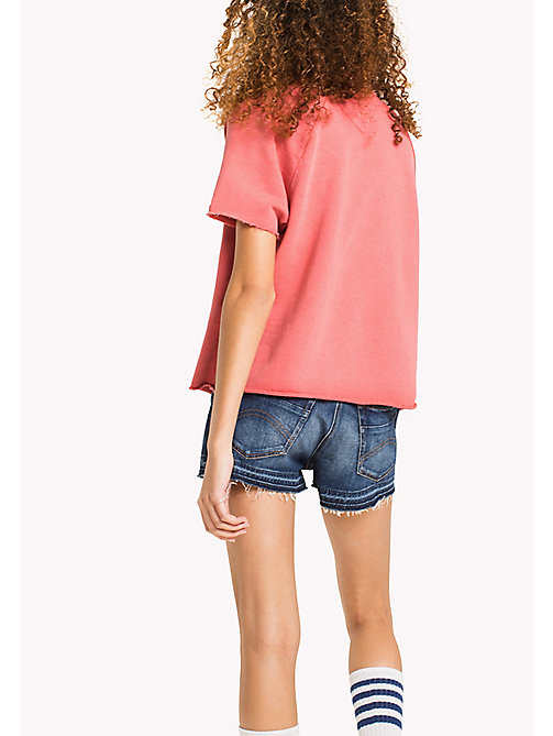 TOMMY JEANS Short Sleeved Raglan Jumper - SPICED CORAL - TOMMY JEANS WOMEN - detail image 1