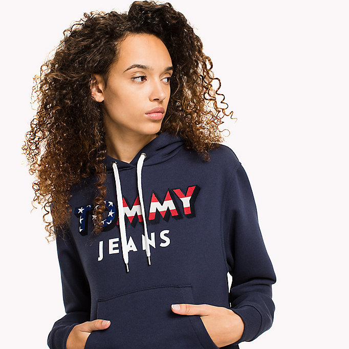 TOMMY JEANS Loose Fit Logo Hoodie - TOMMY BLACK - TOMMY JEANS Women - detail image 2