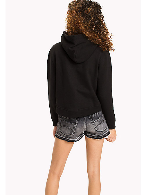 TOMMY JEANS Lockerer Hoodie mit Logo - TOMMY BLACK - TOMMY JEANS Kleidung - main image 1
