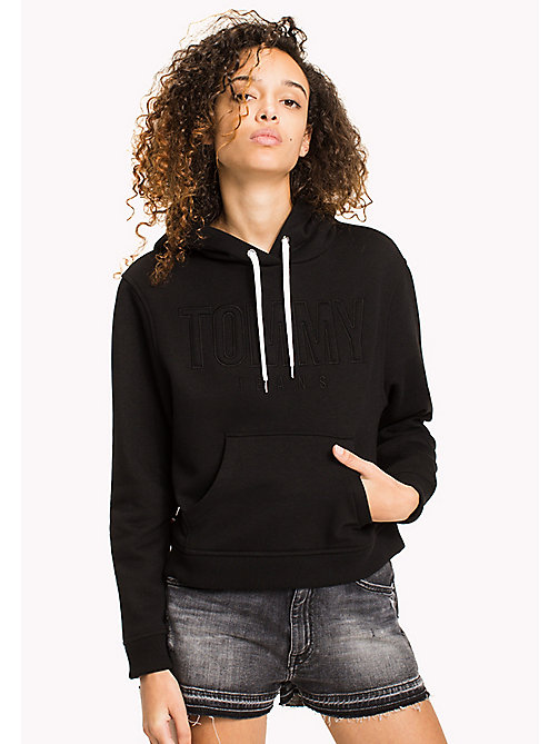 TOMMY JEANS Loose Fit Logo Hoodie - TOMMY BLACK - TOMMY JEANS WOMEN - main image