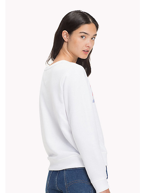 TOMMY JEANS Logo Sweatshirt - BRIGHT WHITE - TOMMY JEANS Sweatshirts & Hoodies - detail image 1