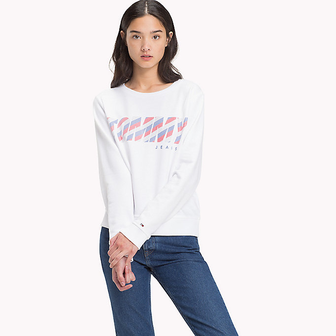 TOMMY JEANS Sweatshirt mit Logo - BLACK IRIS - TOMMY JEANS Kleidung - main image