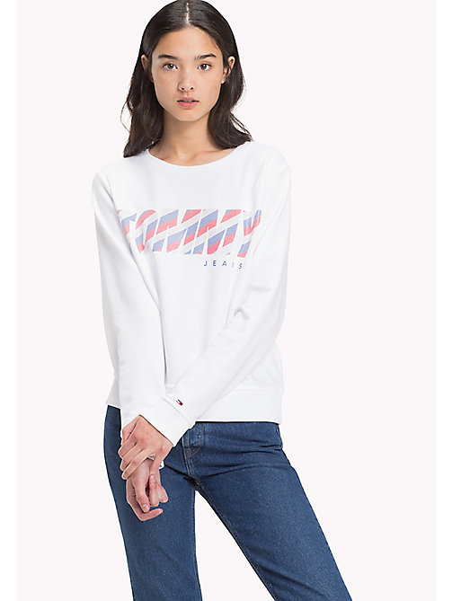 TOMMY JEANS Logo Sweatshirt - BRIGHT WHITE - TOMMY JEANS WOMEN - main image