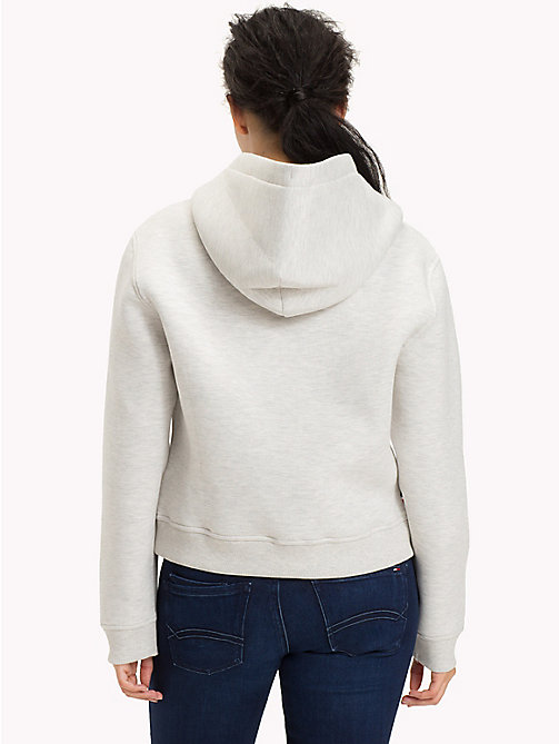 TOMMY JEANS Cotton Blend Logo Hoodie - LIGHT GREY HTR - TOMMY JEANS WOMEN - detail image 1
