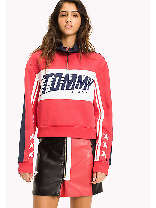 Fleece Racing Pop Over - SKI PATROL - TOMMY JEANS Clothing - main image