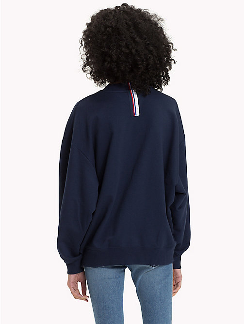 TOMMY JEANS Oversized Sweatshirt - BLACK IRIS - TOMMY JEANS Clothing - main image 1