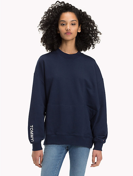 TOMMY JEANS Oversized Sweatshirt - BLACK IRIS - TOMMY JEANS Sweatshirts & Hoodies - main image