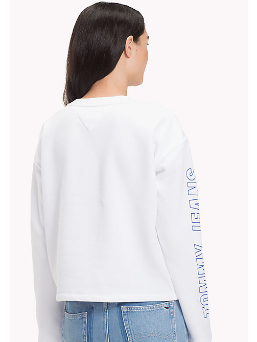TOMMY JEANS Racing Sweatshirt - BRIGHT WHITE - TOMMY JEANS Sweatshirts & Hoodies - detail image 1