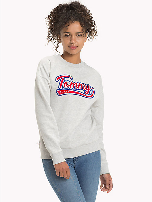 TOMMY JEANS Sweatshirt mit Tommy Jeans-Logo - LIGHT GREY HTR - TOMMY JEANS Clothing - main image
