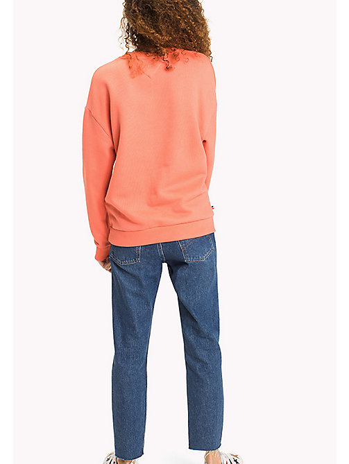 TOMMY JEANS Tommy Jeans Logo Sweatshirt - SPICED CORAL - TOMMY JEANS Sweatshirts & Hoodies - detail image 1