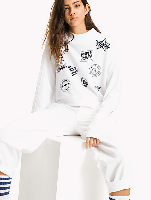 TOMMY JEANS Multi-Badge Sweatshirt - BRIGHT WHITE - TOMMY JEANS Sweatshirts & Hoodies - main image