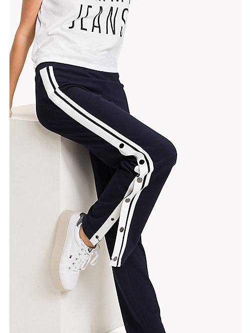 TOMMY JEANS Snap Trackpants - BLACK IRIS - TOMMY JEANS WOMEN - main image