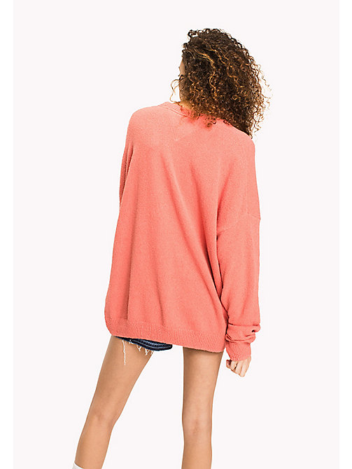 TOMMY JEANS Textured Jumper - SPICED CORAL - TOMMY JEANS WOMEN - detail image 1