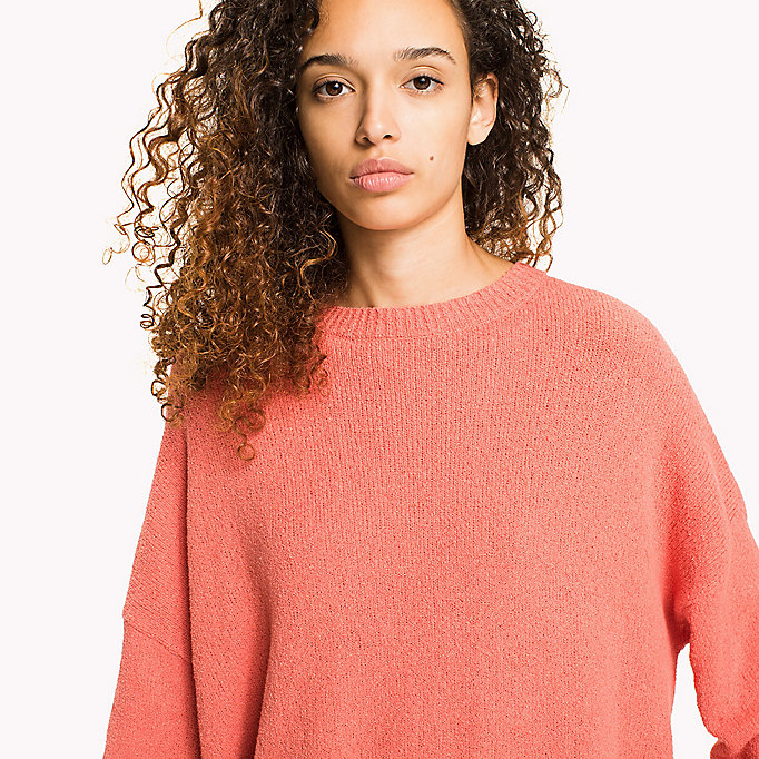 TOMMY JEANS Textured Jumper - SNOW WHITE - TOMMY JEANS Women - detail image 2