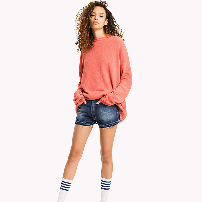 TOMMY JEANS Textured Jumper - SNOW WHITE - TOMMY JEANS Women - main image