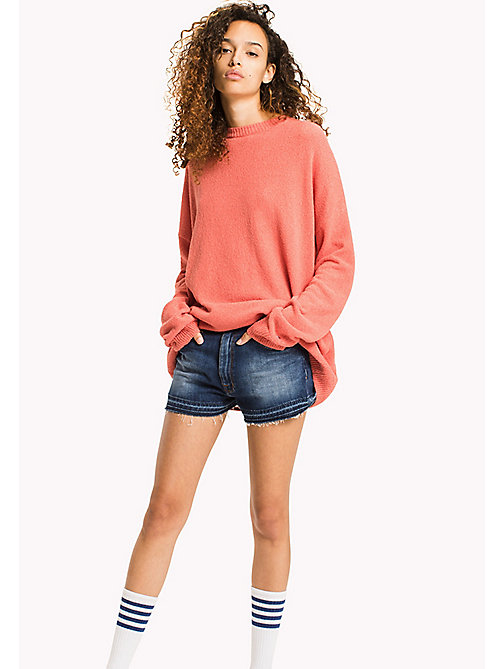 TOMMY JEANS Textured Jumper - SPICED CORAL - TOMMY JEANS WOMEN - main image