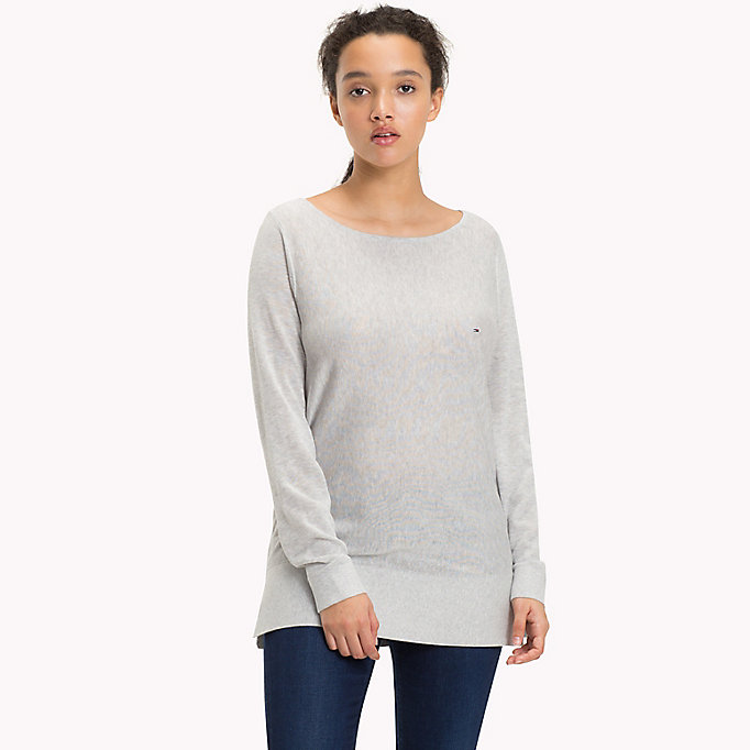 TOMMY JEANS Boat Neck Ribbed Jumper - GOLD EARTH - TOMMY JEANS Women - main image