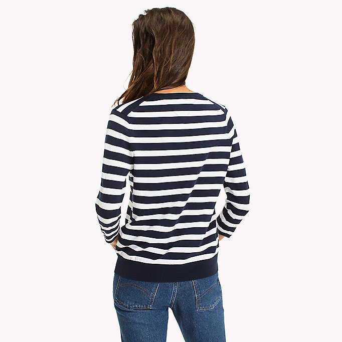 TOMMY JEANS Stripe Badge Jumper - SKI PATROL / BLACK IRIS - TOMMY JEANS Women - detail image 1