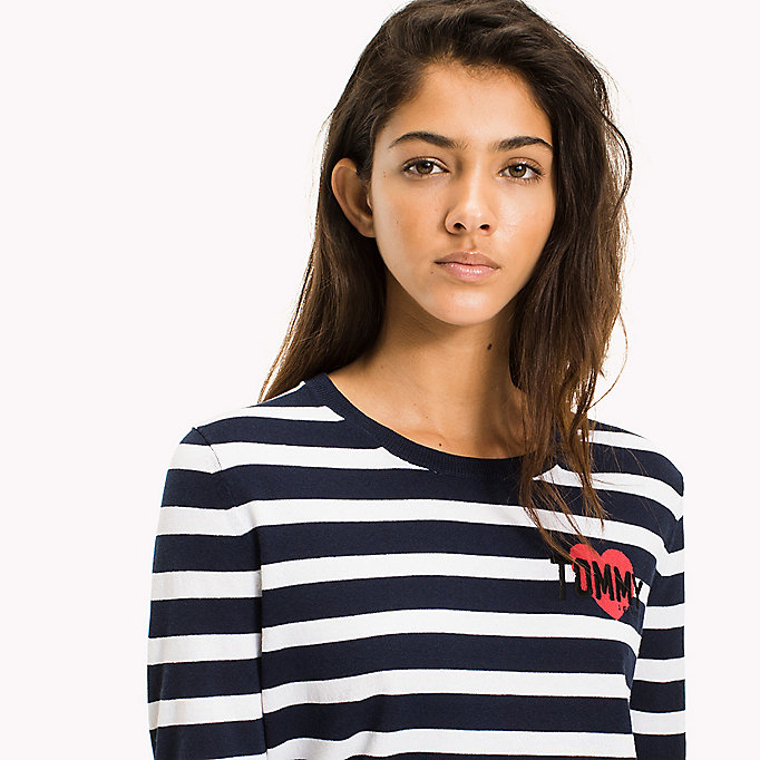 TOMMY JEANS Stripe Badge Jumper - SKI PATROL / BLACK IRIS - TOMMY JEANS Clothing - detail image 2