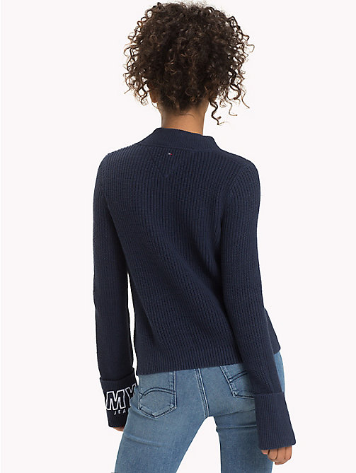 TOMMY JEANS Diagonal Stitch Jumper - BLACK IRIS - TOMMY JEANS WOMEN - detail image 1