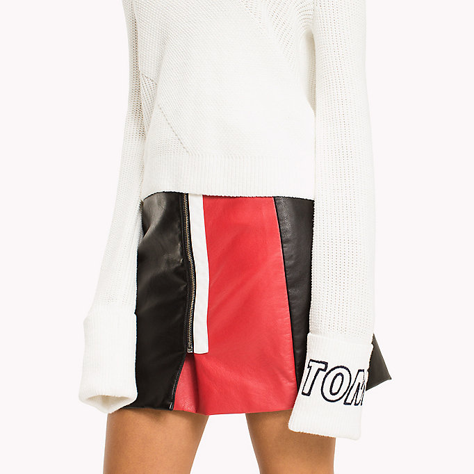 TOMMY JEANS Diagonal Stitch Jumper - BLACK IRIS - TOMMY JEANS Women - detail image 2