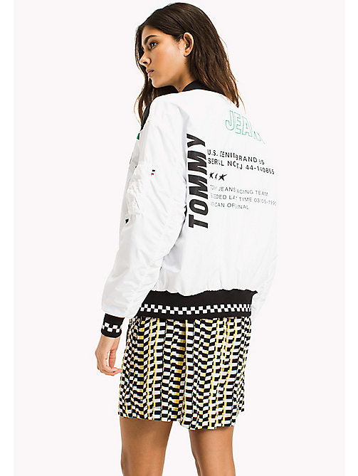 TOMMY JEANS Oversized Racing Bomber Jacket - BRIGHT WHITE - TOMMY JEANS Coats & Jackets - detail image 1