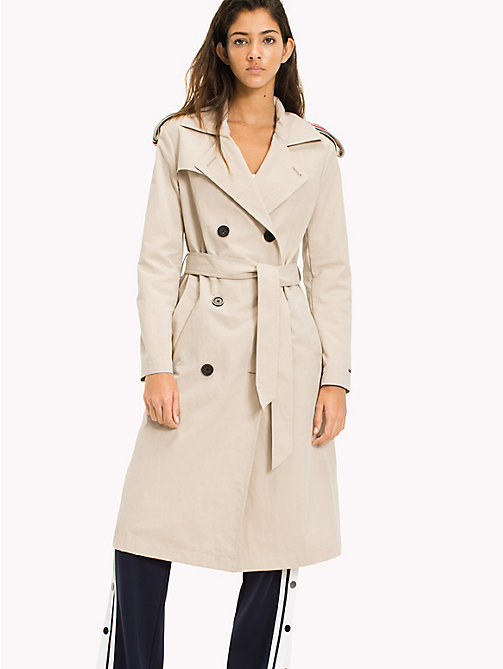 TOMMY JEANS Classic Trench Coat - SIMPLY TAUPE - TOMMY JEANS WOMEN - main image