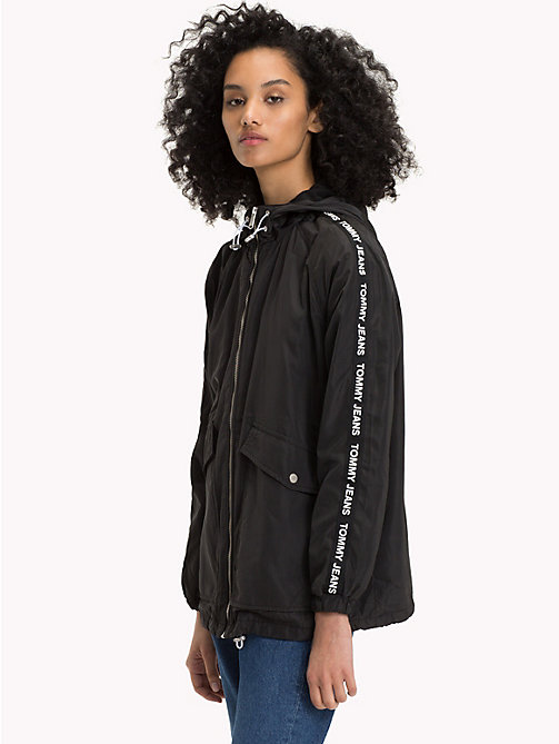 TOMMY JEANS Hooded Windbreaker - TOMMY BLACK - TOMMY JEANS Women - main image