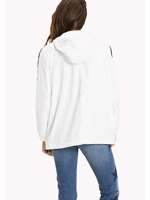 TOMMY JEANS Hooded Windbreaker - BRIGHT WHITE - TOMMY JEANS WOMEN - detail image 1