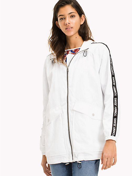 TOMMY JEANS Hooded Windbreaker - BRIGHT WHITE - TOMMY JEANS DAMES - main image