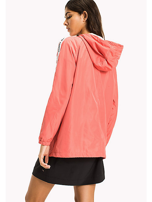 TOMMY JEANS Hooded Windbreaker - SPICED CORAL - TOMMY JEANS Coats & Jackets - detail image 1
