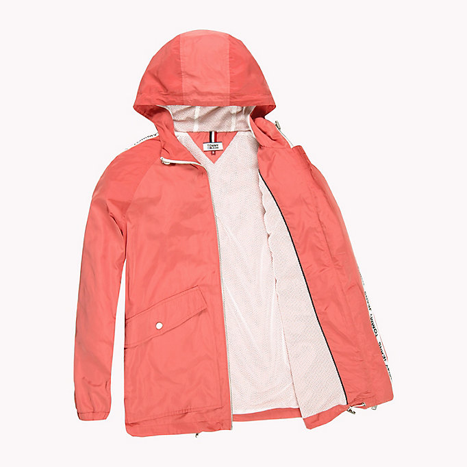 TOMMY JEANS Hooded Windbreaker - BRIGHT WHITE - TOMMY JEANS Clothing - detail image 4