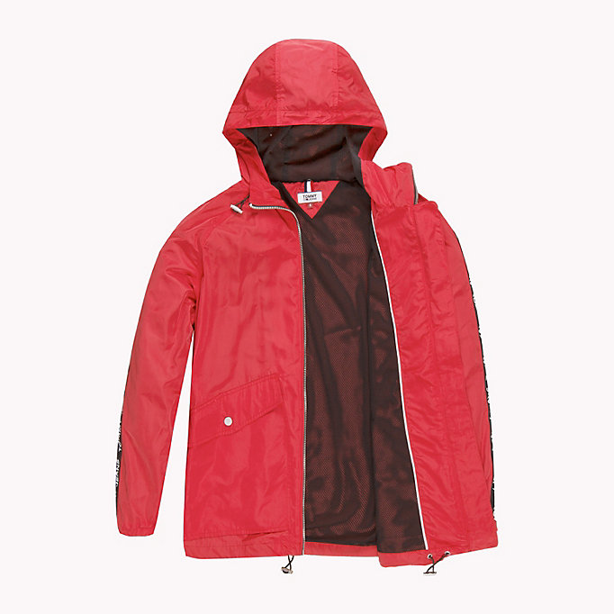 TOMMY JEANS Hooded Windbreaker - SPICED CORAL - TOMMY JEANS Clothing - detail image 4