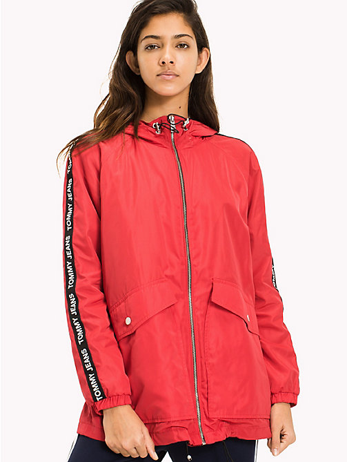 TOMMY JEANS Hooded Windbreaker - SKI PATROL - TOMMY JEANS Coats & Jackets - main image