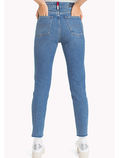 TOMMY JEANS Izzy High Rise Jeans - TOMMY JEANS MID BLUE RIGID - TOMMY JEANS Clothing - detail image 1