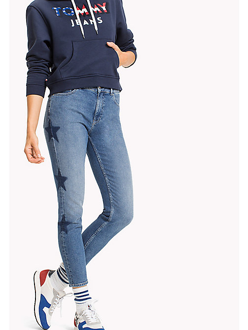 TOMMY JEANS Izzy High Rise Jeans - GALAXY MID BLUE STRETCH - TOMMY JEANS Girlfriend Jeans - main image