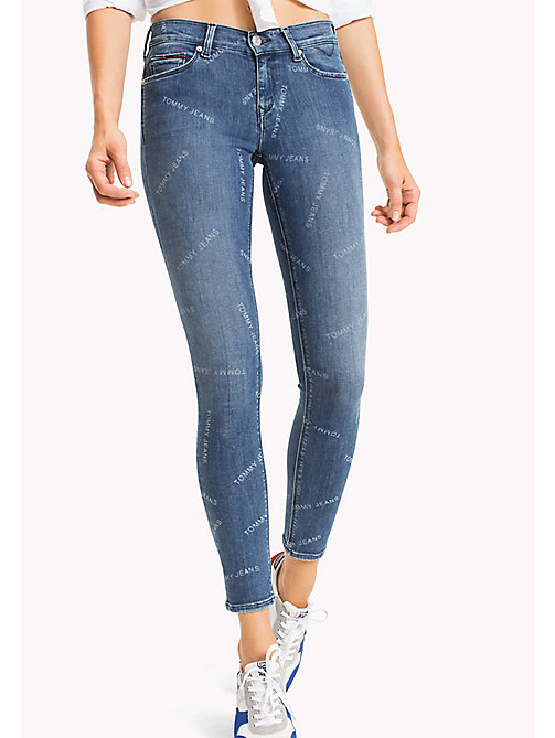 TOMMY JEANS Nora Mid Rise Skinny Fit Jeans - ALL OVER MID BLUE STRETCH - TOMMY JEANS Jeans - main image