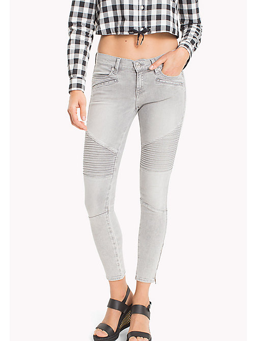 TOMMY JEANS Nora Skinny Fit Jeans - EDGY LIGHT GREY STRETCH - TOMMY JEANS Festival Season - main image