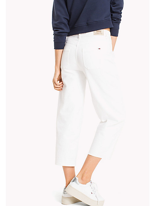 TOMMY JEANS Wide Leg Cut-Off Jeans - OPTICAL WHITE COMFORT - TOMMY JEANS Clothing - detail image 1