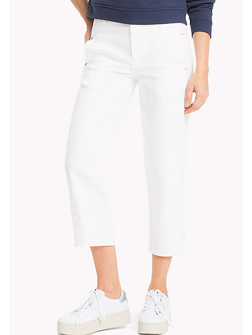 TOMMY JEANS Wide Leg Cut-Off Jeans - OPTICAL WHITE COMFORT - TOMMY JEANS WOMEN - main image