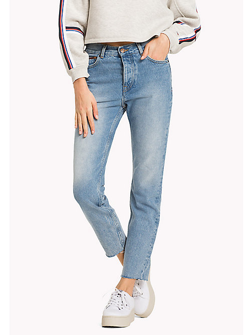 TOMMY JEANS Izzy High Rise Jeans - TOMMY JEANS LIGHT BLUE RIGID - TOMMY JEANS Girlfriend Jeans - main image