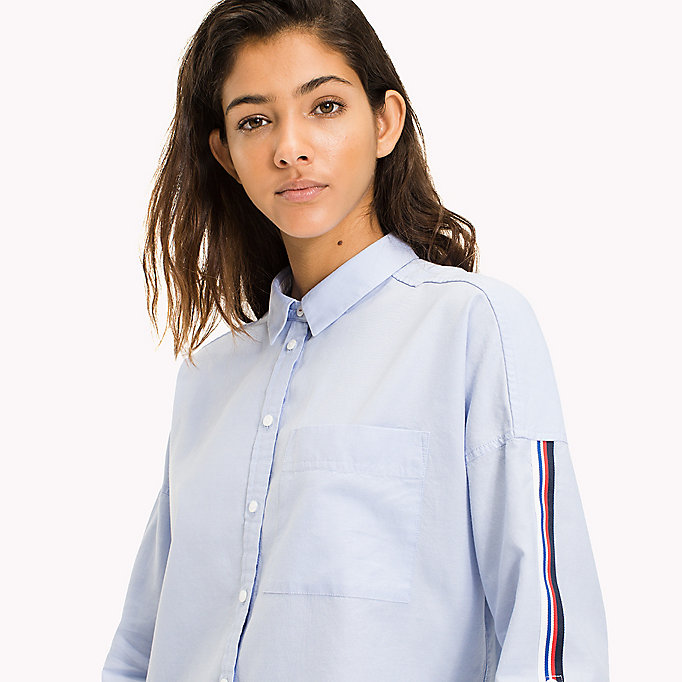 TOMMY JEANS Oversized Shirt - BRIGHT WHITE - TOMMY JEANS Clothing - detail image 2