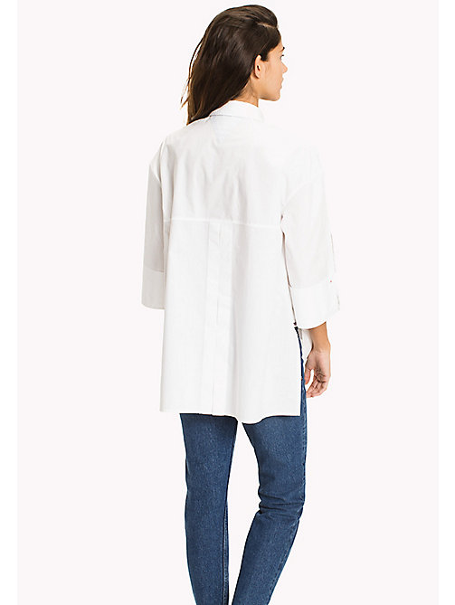 TOMMY JEANS Oversized Poplin Shirt - BRIGHT WHITE - TOMMY JEANS Tops - detail image 1