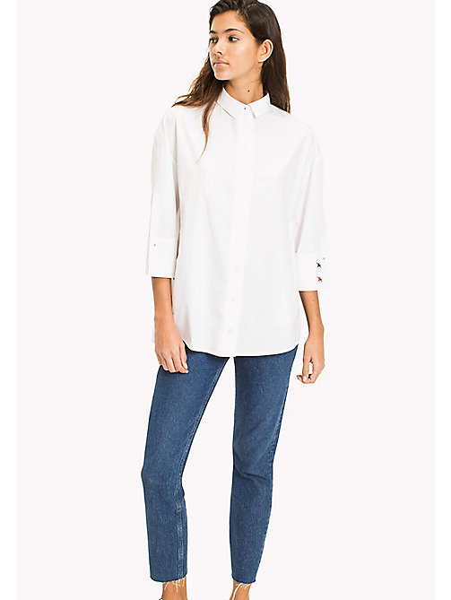 TOMMY JEANS Oversized Poplin Shirt - BRIGHT WHITE - TOMMY JEANS WOMEN - main image