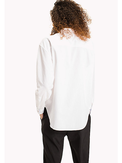 TOMMY JEANS Oxford Cotton Boyfriend Shirt - BRIGHT WHITE - TOMMY JEANS TOMMY JEANS WOMEN - detail image 1