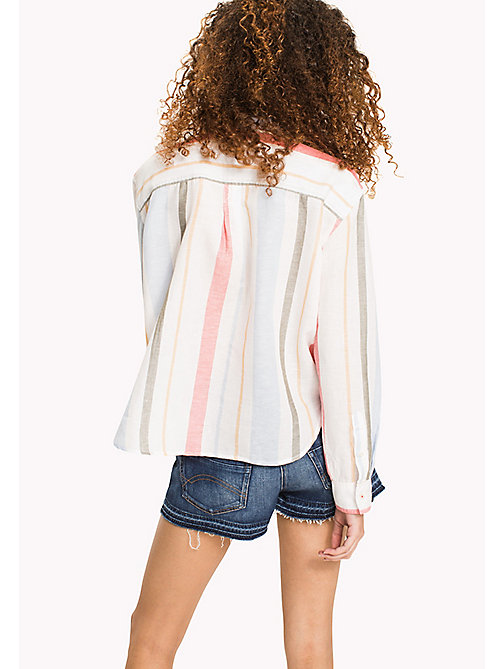 TOMMY JEANS Multi Stripe Cropped Shirt - IRREGULAR SHIRTING STRIPE - TOMMY JEANS VACATION - detail image 1
