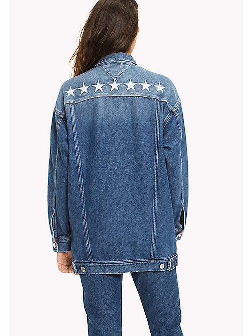 TOMMY JEANS Oversized denim truckerjack - SUPER STAR MID BLUE RIGID - TOMMY JEANS DAMES - detail image 1