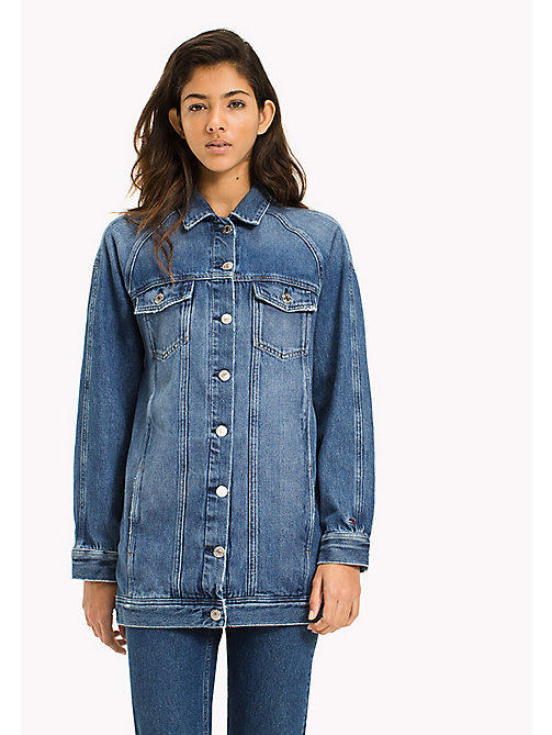 TOMMY JEANS Oversized Denim Trucker - SUPER STAR MID BLUE RIGID - TOMMY JEANS WOMEN - main image