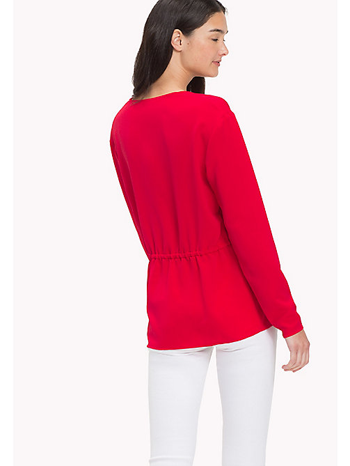 TOMMY JEANS V-Neck Blouse - SKI PATROL - TOMMY JEANS Clothing - detail image 1
